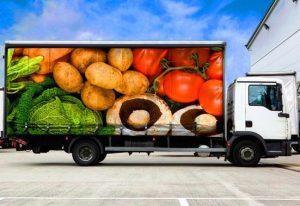 کامیون یخچالی حمل میوه