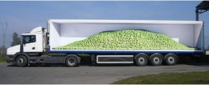 کامیون حمل میوه